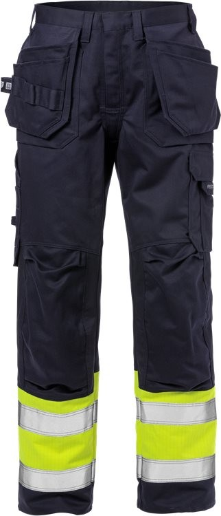 Flame high vis craftsman trousers cl 1 2586 FLAM