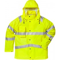 Flame high vis rain jacket cl 3 4845 RSHF