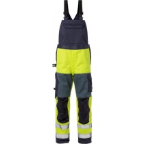 Flame high vis bib'n'brace cl 2 1585 FLAM