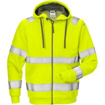 High vis hooded sweat jacket cl 3 7408 BPV